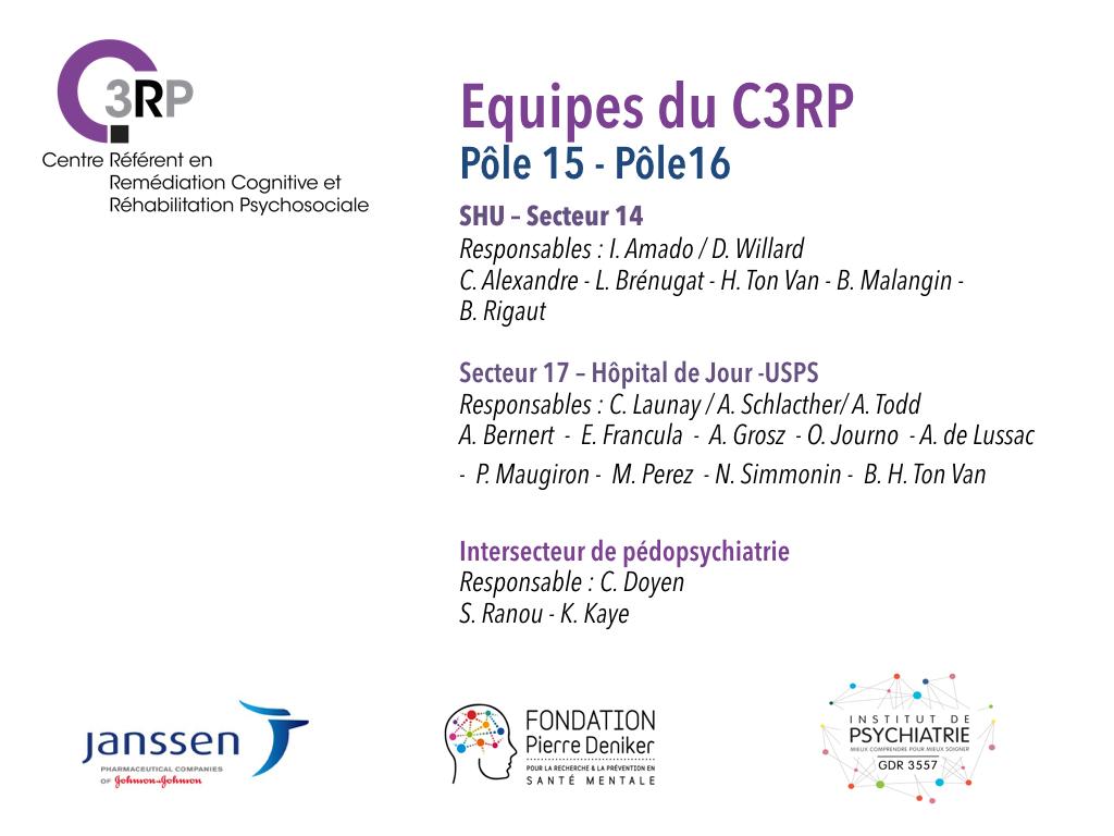 Equipes du C3RP, Pôle15 - Pôle16