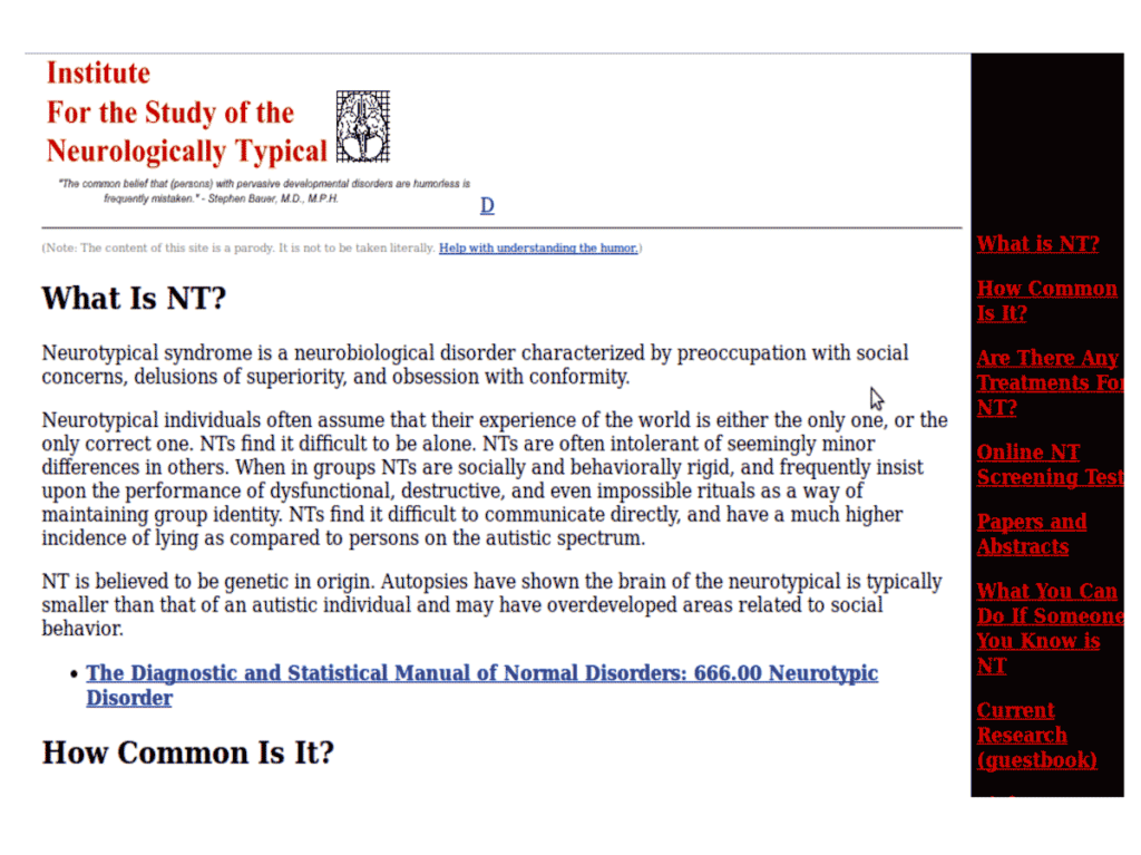 Institute for the Study of the Neurologically Typical
