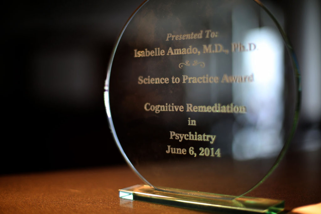 Science to Practice Award Cognitive Remediation in Psychiatrie, juin 2014 remis à Isabelle Amado