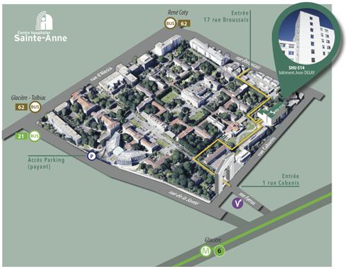Plan accès SHU amphi
