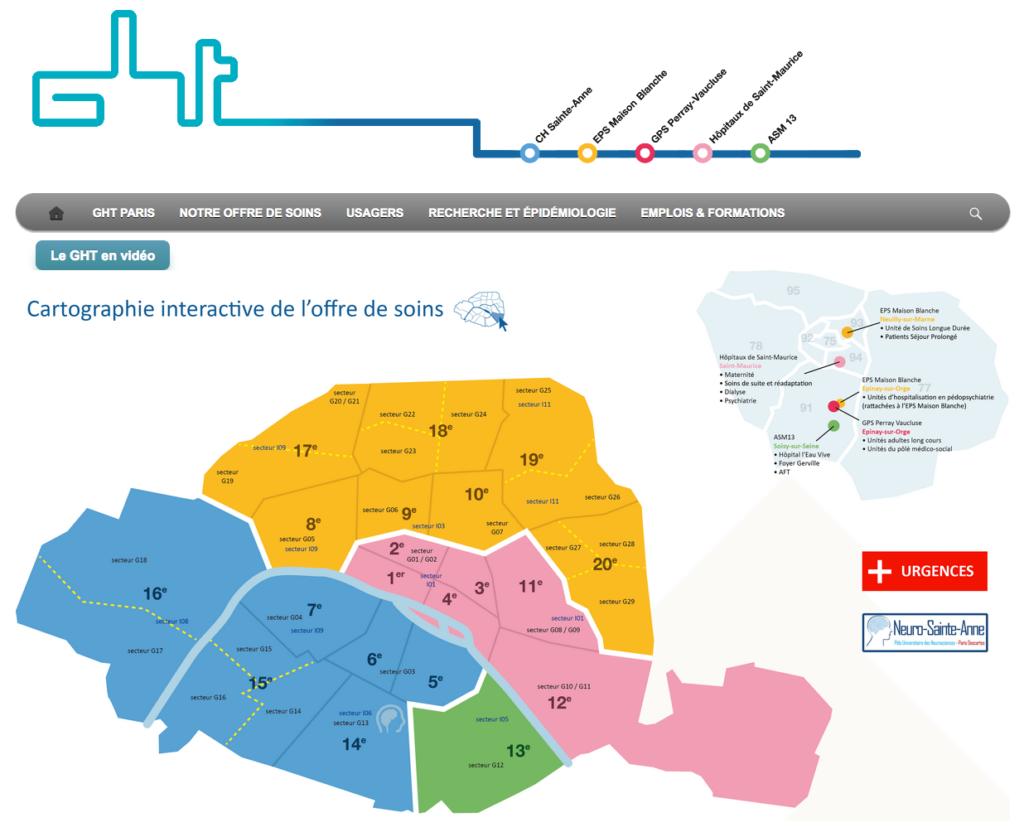 Portail du GHT Paris -  Psychiatrie & Neurosciences