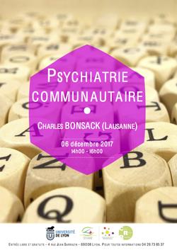 Mercredi 6 décembre 2017 – Charles Bonsack (Lausanne) : Psychiatrie communautaire