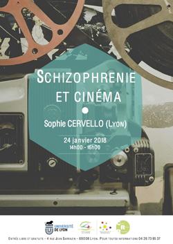 Mercredi 24 janvier 2018 – Sophie Cervello (Lyon) : Schizophrénie et cinéma