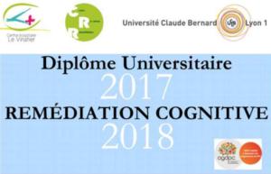 Diplôme Universitaire remédiation cognitive 2017/2018