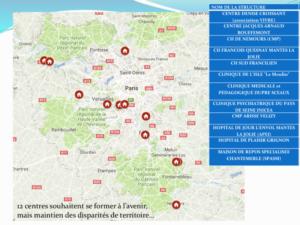 12 centres souhaitent se former à l'avenir, mais maintien des disparités de territoire