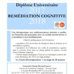 programme diplôme universitaire remédiation cognitive 2017 2018