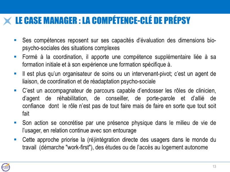 Le case manager : la compétence-clé de Prépsy