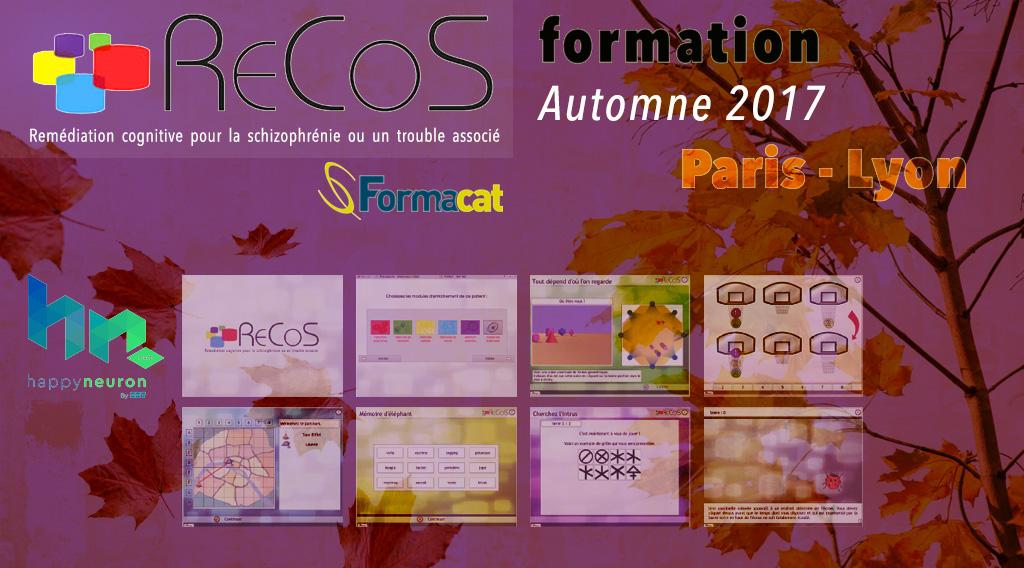 formation RECOS - Automne 2017 - Paris & Lyon