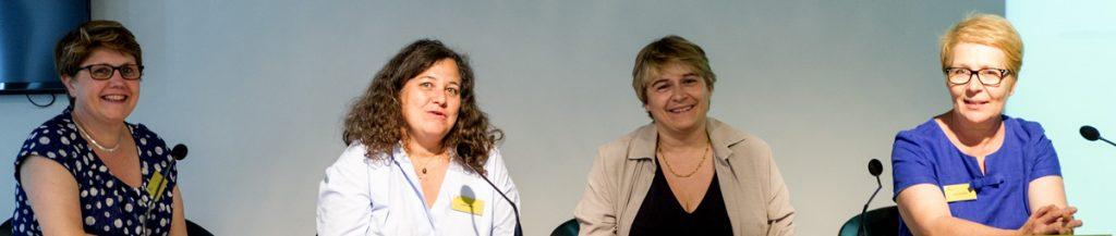 Corinne Launay, Isabelle Amado, Marie-Odile Krebs et Catherine Doyen