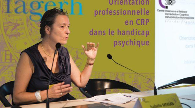 CRP – Orientation professionnelle et handicap psychique