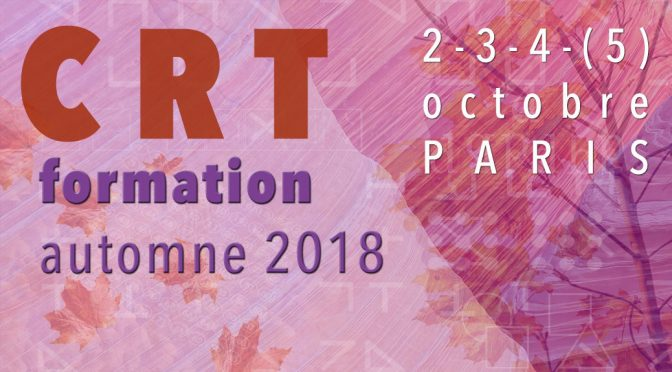 Formation CRT Automne 2018