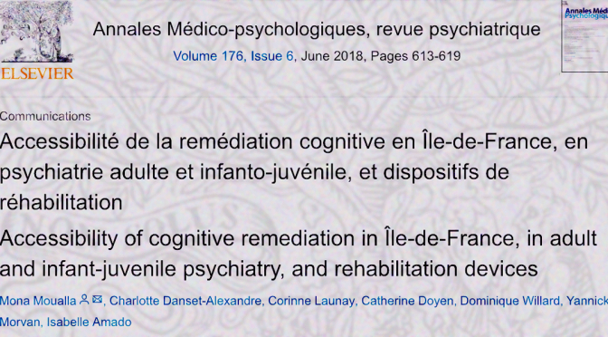 Accessibilité de la remédiation cognitive en Île-de-France
