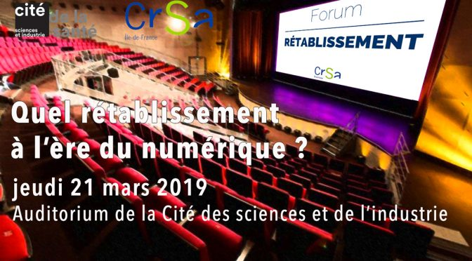FORUM RÉTABLISSEMENT 2019
