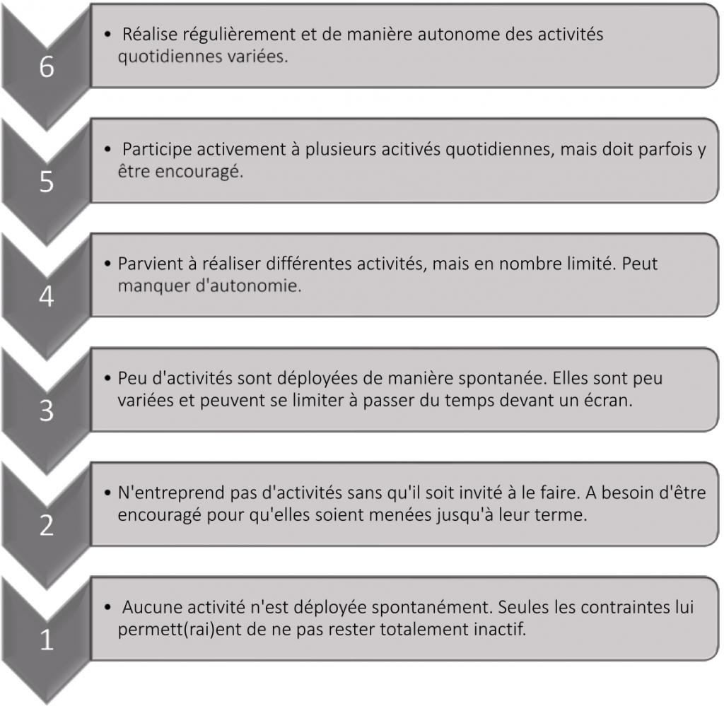 3. Echelle d'activité/inactivité (non professionnelle)